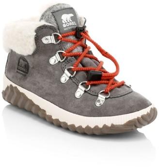 Sorel Kid's Faux Fur-Lined Waterproof Suede Ankle Town Boots