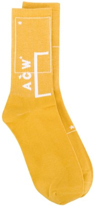 A-Cold-Wall* Intarsia Logo Knitted Socks