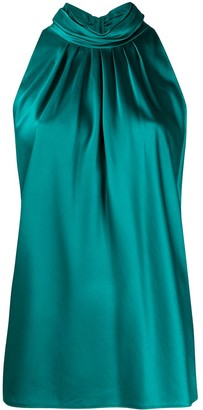 Dvf Diane Von Furstenberg Pleated Halter Neck Top