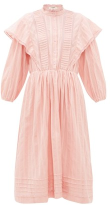 Etoile Isabel Marant Paolina Striped Cotton Midi Dress - Womens - Pink