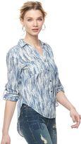 Rock & Republic Women's Tie-Dye High Low Shirt