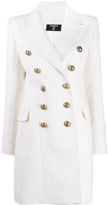 Balmain Double-Breasted Button Front Coat
