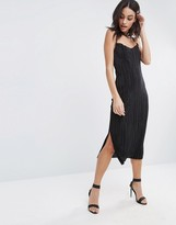 Oh My Love Pleated Midi Dress