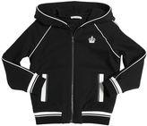 Dolce & Gabbana Hooded Zip-Up Cotton Sweatshirt