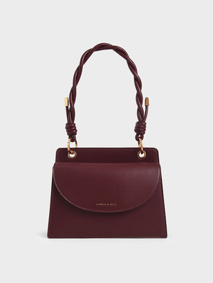 Charles & Keith Twist Top Handle Front Flap Bag