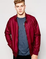 Firetrap Waxed Harrington Jacket - Red