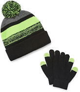 Weatherproof Beanie & Glove Set- Boys Big Kid