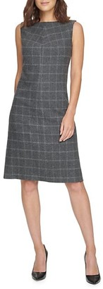 Donna Karan Plaid Sheath Dress