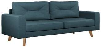 "Binns 75.75"" Square Arm Sofa Corrigan Studio Upholstery Color: Light Steel, Leg Color: Black"