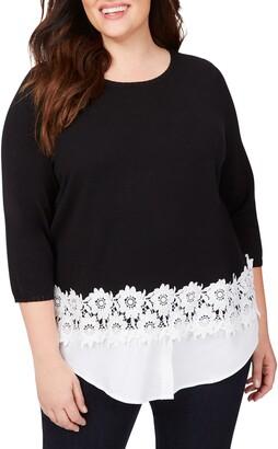 Foxcroft Zadie Layered Look Sweater