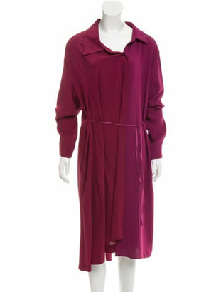 Maison Margiela Long Sleeve Silk Dress