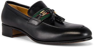 Gucci Paride Loafer in Black & Green & Red | FWRD