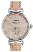Shinola Women's The Canfield Alligator Strap Watch, 38Mm