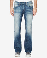 Buffalo David Bitton Men's Worn Out Blue Ripped Stretch Jeans