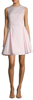Christian Dior Solid Pleated Fit and Flare Dress
