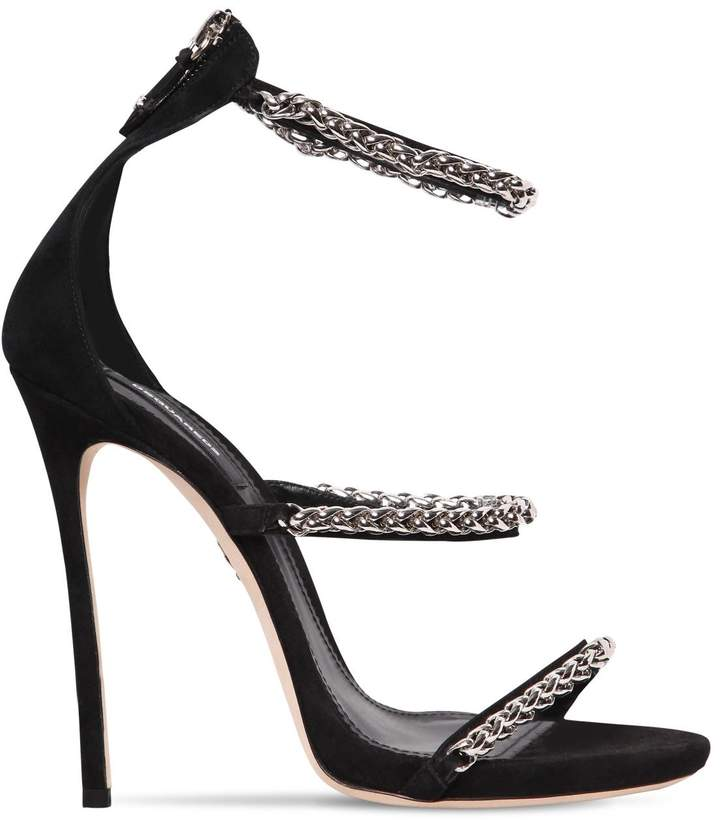 DSQUARED2 120mm Chain Suede Sandals