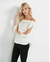Express off the shoulder open sleeve blouse