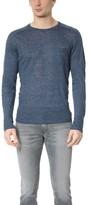 Todd Snyder Saddle Pocket Linen Crew Sweater