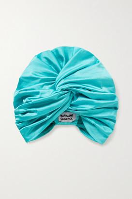 MaryJane Claverol Maggie Stretch-satin Turban - Turquoise