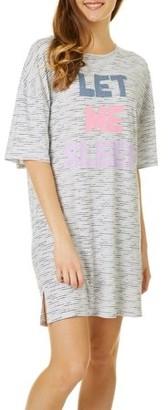 Derek Heart Women's Oversized Short Sleeve Sleepshirt