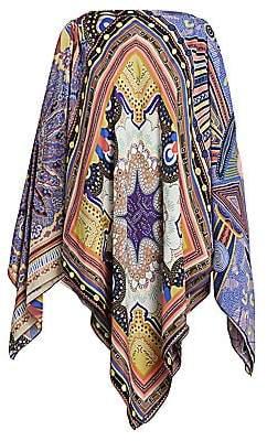 Etro Women's Geometric Paisley Handkerchief Poncho