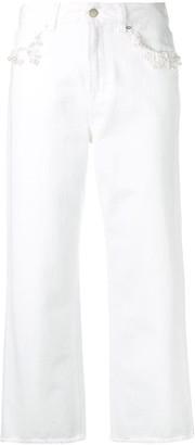 Christopher Kane Pearl Wide Leg Jeans