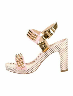 Christian Louboutin Bikool 85 Leather Sandals w/ Tags Pink