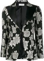 Faith Connexion rose cloqué blazer