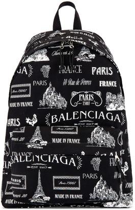 Balenciaga Wheel Backpack in Black & White | FWRD