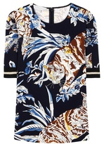 Stella McCartney Printed crêpe T-shirt