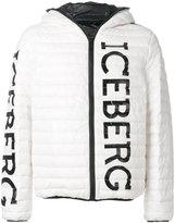 Iceberg logo printed padded jacket