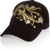 River Island Womens Black floral embroidered cap