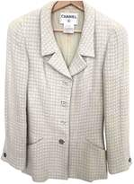 Chanel Grey Wool Jacket for Women Vintage