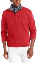 Nautica Men's Fleece Solid 1/4 Zip Top