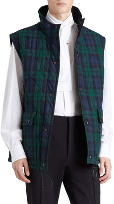 Burberry Tartan Check Reversible Quilted Gilet