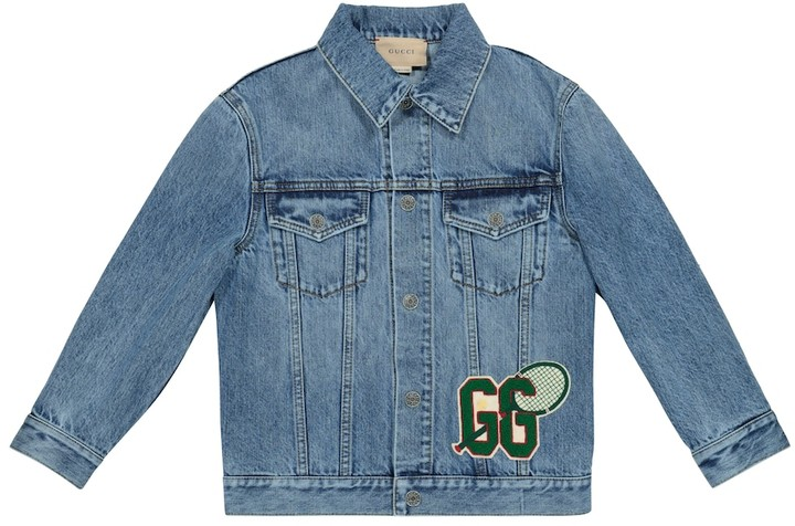 Gucci Kids Appliqued denim jacket