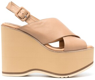 Paloma Barceló Open-Toe Platform Leather Sandals