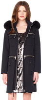 Michael Kors Fur-Trim Zipper Anorak