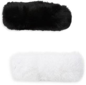 Wolfie Fur Set of Two Full Dyed Fox Fur Headbands