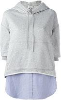 3.1 Phillip Lim layered hoodie - women - Cotton - S