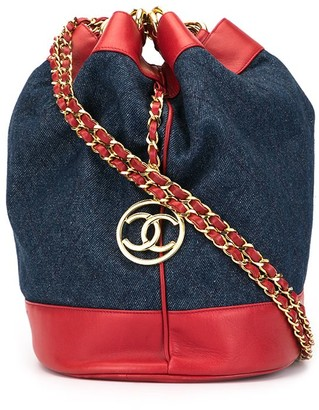 Chanel Pre-Owned Jumbo CC drawstring shoulder bag