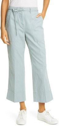 Club Monaco Tea Dye Crop Bootcut Cotton Chino Pants
