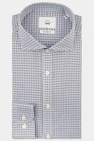 Moss 1851 Tailored Fit Brown Single Cuff Check Zero Iron Shirt