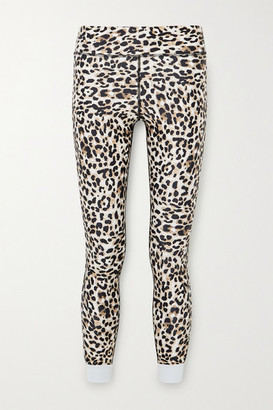 The Upside Water Leopard Cropped Printed Stretch Leggings - Leopard print