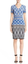 St. John Women's Kiara Geo Knit Dress