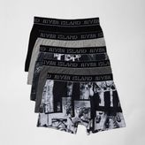 River Island Mens Grey photographic print boxers multipack