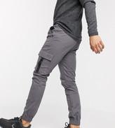 Asos Design DESIGN super skinny cargo cuffed joggers in washed black