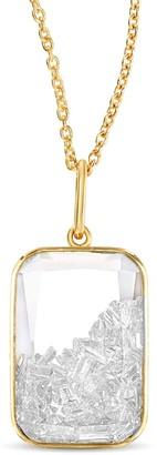 Moritz Glik Ten Fourteen White Sapphire Shaker Necklace