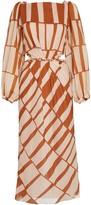 Johanna Ortiz Illusion of Time Striped Dress