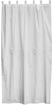 Taftan Owl Curtain 145 x 280cm with Loops (White)